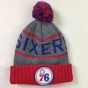 NBA Philadelphia 76ers Knit Pom Cap Hat Beanie
